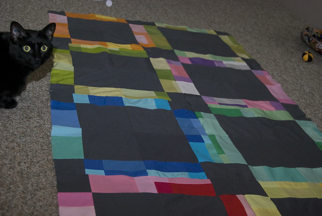 Modern Amish quilt is complete!