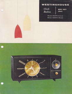 WESTINGHOUSE Clock Radio Model 546T5 Dealer Sales Sheet (USA 1956)_01