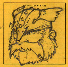 AD&D Character Sketch: Ott Gravelspit, dwarf fighter