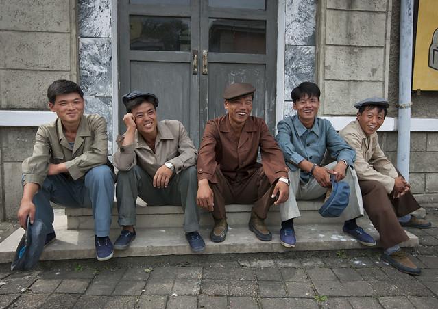 North korean actors in Pyongyang film studio - North Korea
