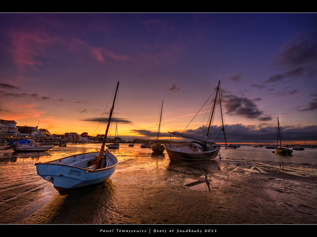 48.2011 - Poole - Sandbanks - UK - Sunset - Frame
