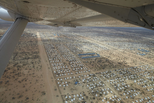 An aerial view of the world's largest refugee camp, Dadaab