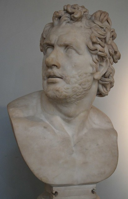 Marble head of a companion of Odysseus from the Pantanello at Hadrian's Villa, British Museum