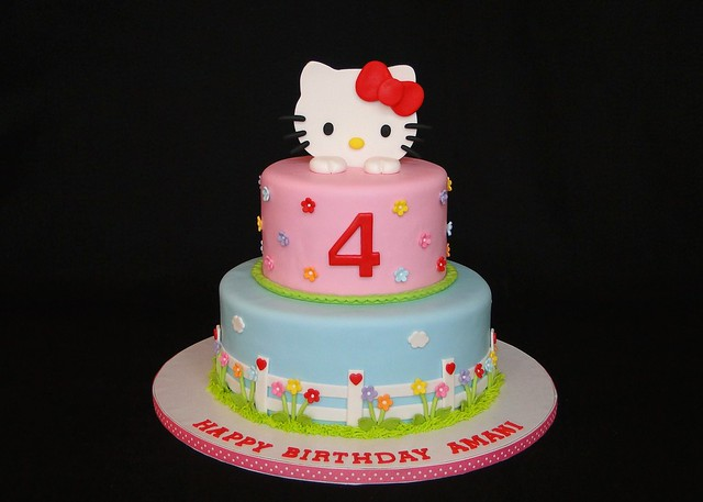 Cake Hello Kitty Pink : Pink Hello Kitty cake Flickr - Photo Sharing!