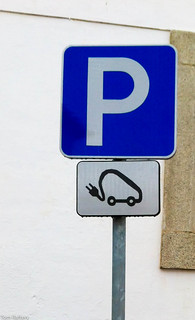 Electric vehicle parking place