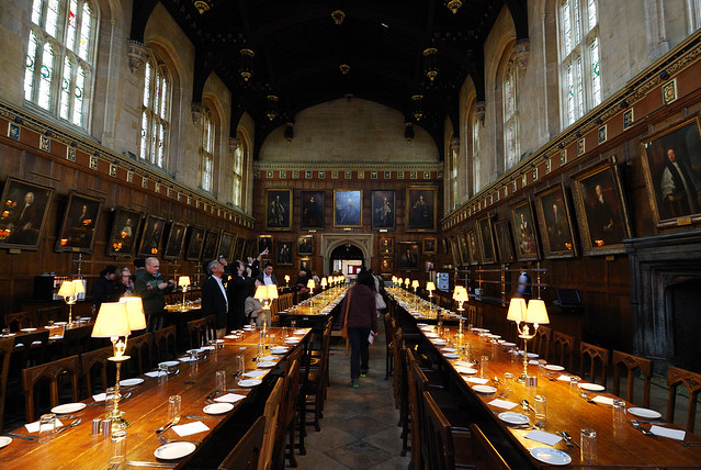 Oxford Christ Church College Harry Potter Dining Room
