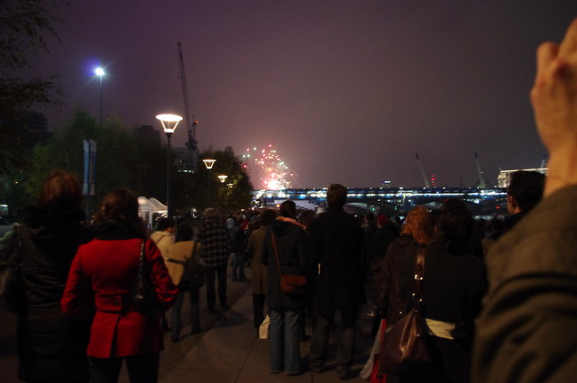 Fireworks from the Tate Modern