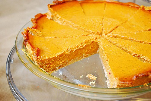 Pumpkin Pie with Wheat Crust