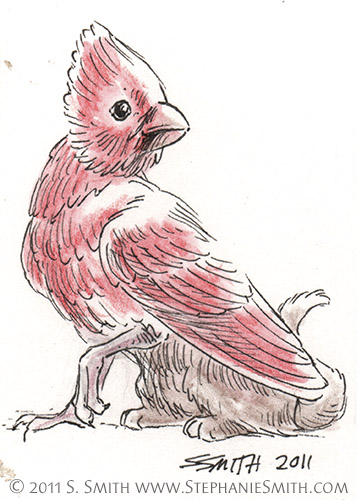 Tiny Gryphons #1 Cardinal by Stephanie Smith