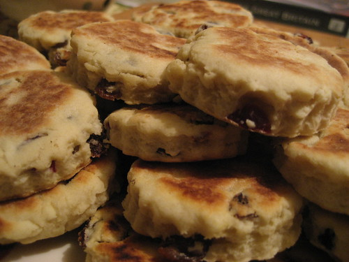Big stack of welsh cakes