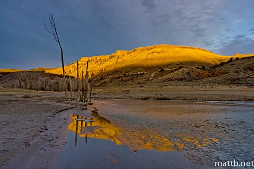 light sunset lake reflection ice water creek alpenglow hdrpad