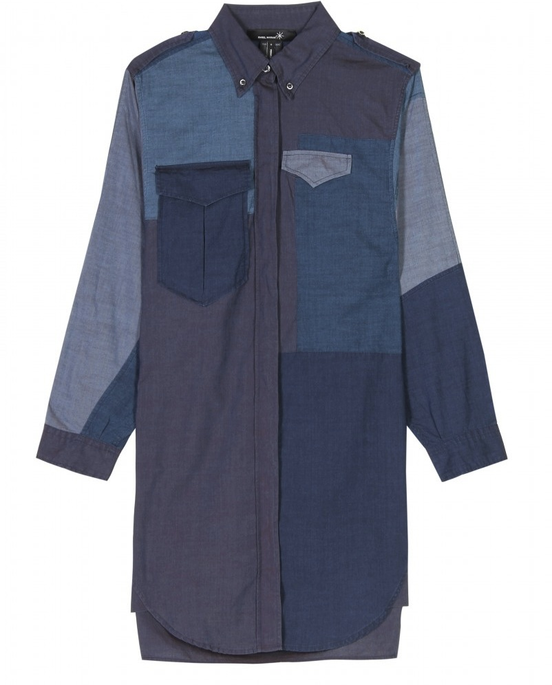 isabel marant FW11 denim patchwork shirt 1