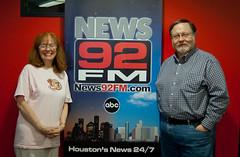 News 92 FM KROI's J.P. Pritchard and Lana Hughes