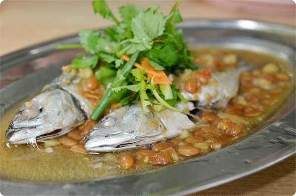 Steamed Mamong Fish with Preserved Beans