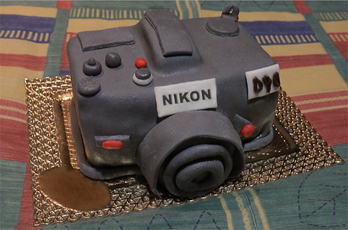 Nikon D90 cake for my birthday !