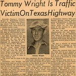 Tommy Wright Is Traffic Victim