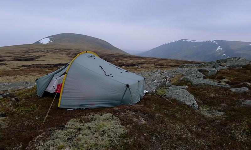 Camped on Beinn Mheadhonach