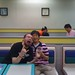 metal kid n' me in mcdonalds. pyeongtaek, south korea.