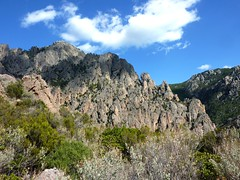 Au col 750m : vers la Punta di Monte Sordu