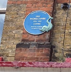 Photo of Eric Morecambe blue plaque