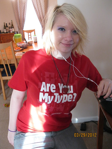 3/29/12: Katherine gave blood for the first time.  She then nearly passed out.  But she got a tshirt.