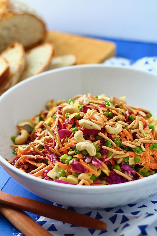 Chicken Cashew Crunch Salad with Sesame Dressing