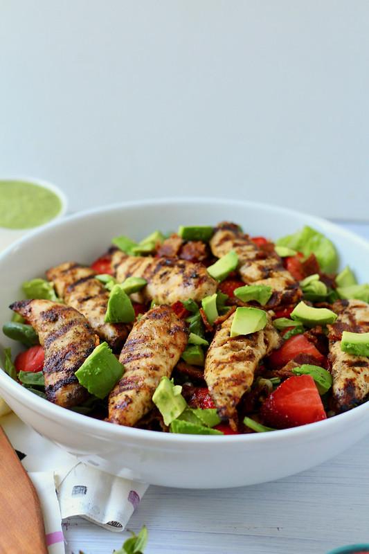 Summer Chipolte Salad with Cilantro Vinaigrette