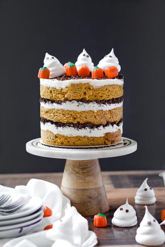 Pumpkin Maple Chocolate Cake