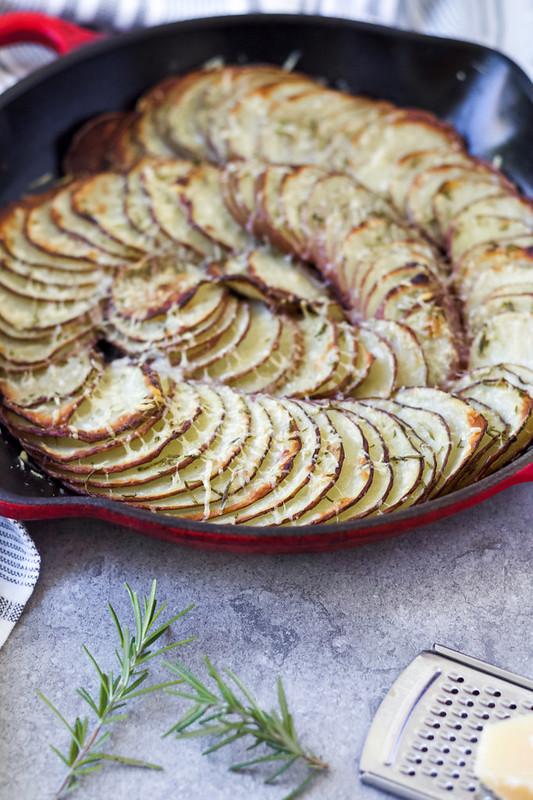 Parmesan-Crusted Potato Gratin
