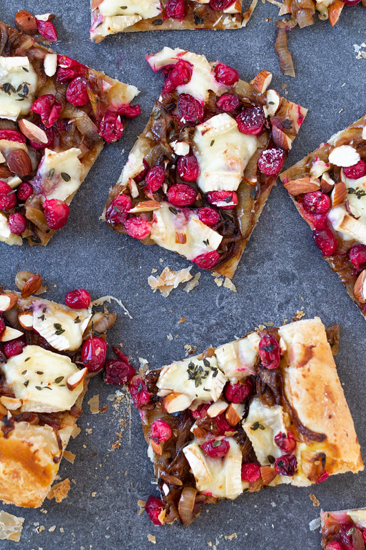 Brie and Cranberry Pastry Bites