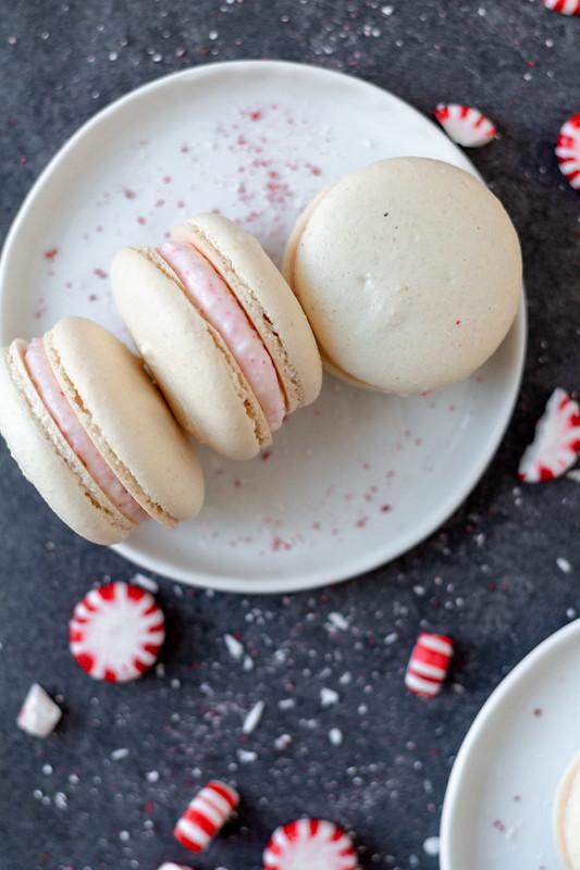 Peppermint Macarons