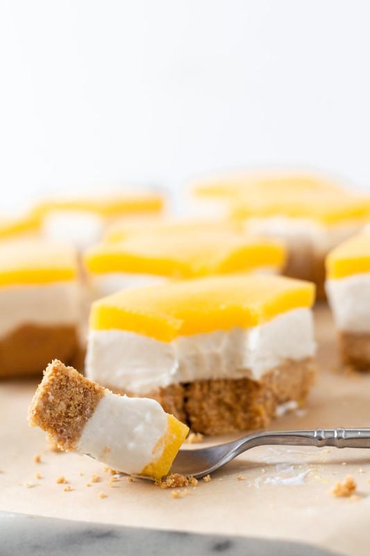 No Bake Coconut Mango Cheesecake Bars