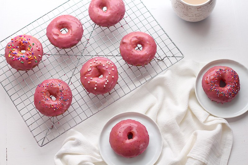 Baked Blood Orange Donuts