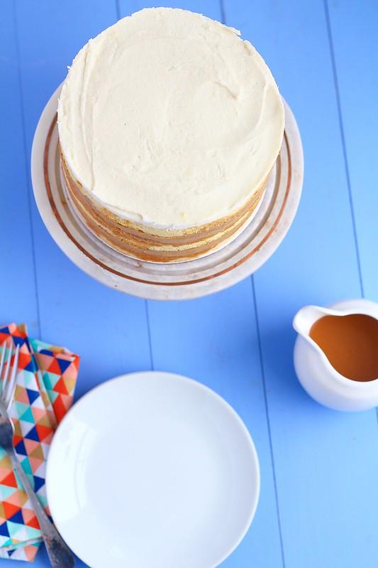 vanilla caramel latte cake