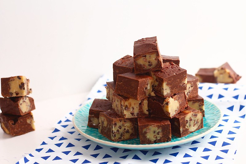 chocolate cookie dough fudge